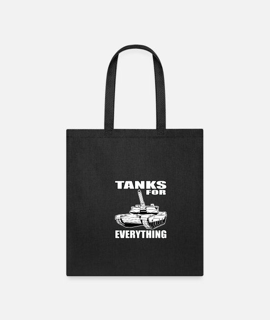 Temporary Soldier Bags & Backpacks - Tanks For All Purposes All Soldier Gift - Tote Bag black