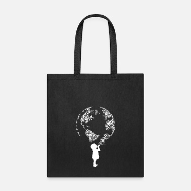 Travel Earth Day Child (white) - Tote Bag