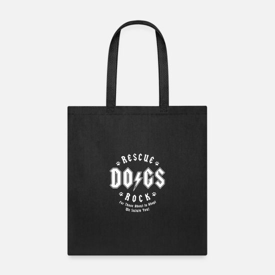 Rescue Bags & Backpacks - Rescue Dogs Rock - Tote Bag black