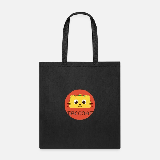 Artist Bags & Backpacks - Funny Tacocat Black Men's Funny T-Shirt - Tote Bag black