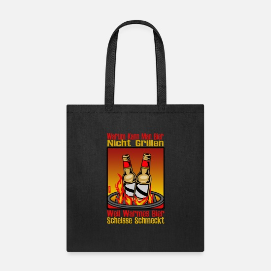 Beer Bags & Backpacks - Why Can You Not Barbecue Beer HARIZ Barbecue Beer - Tote Bag black