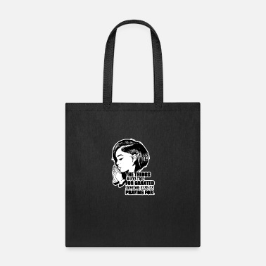 Black Woman Afro Woman Black Hair Style Natural Confident - Tote Bag