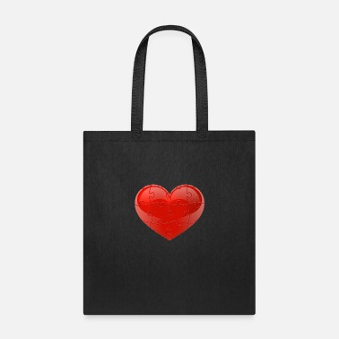 Rate Red Puzzle Heart - Tote Bag