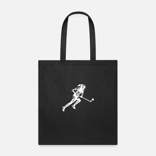 Birthday Bags & Backpacks - Maori Hockey Girl Tribal Tattoo Gift Idea - Tote Bag black