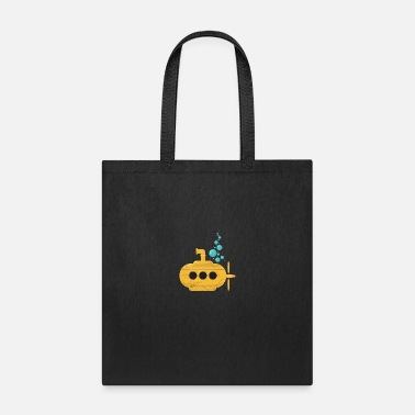 Friends Yellow Submarine with bubbles Diver Gift Idea - Tote Bag