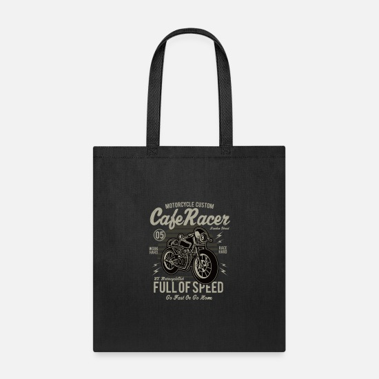 Customized Bags & Backpacks - Motorcycle Custom - Tote Bag black