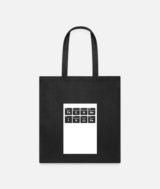 Periodic Table Bags & Backpacks - Periodic Table - Tote Bag black