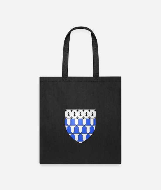Heraldry Bags & Backpacks - French France Coat of Arms 15924 Blason Famille Lu - Tote Bag black