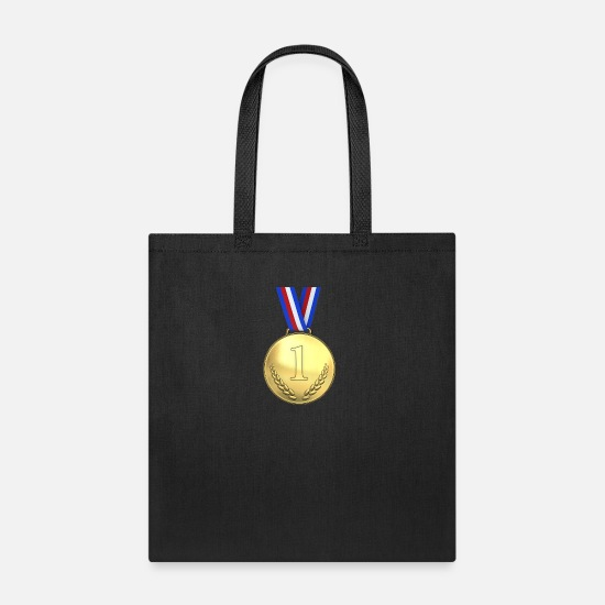 Medal Bags & Backpacks - medal first place - Tote Bag black