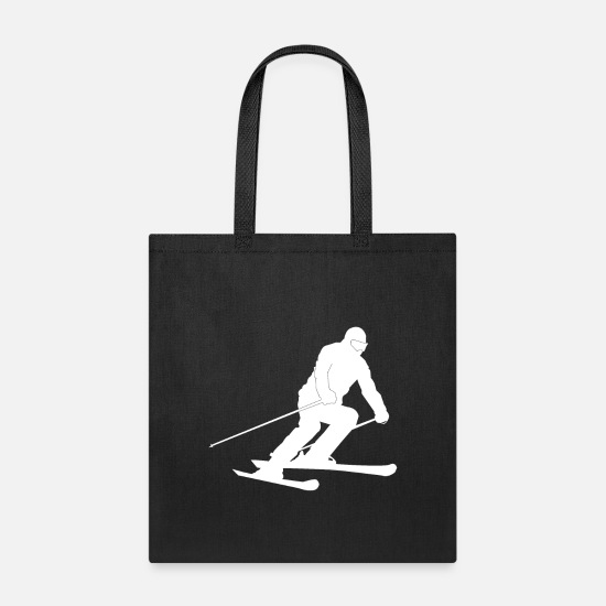 Gift Idea Bags & Backpacks - Skier Silhouette - Tote Bag black