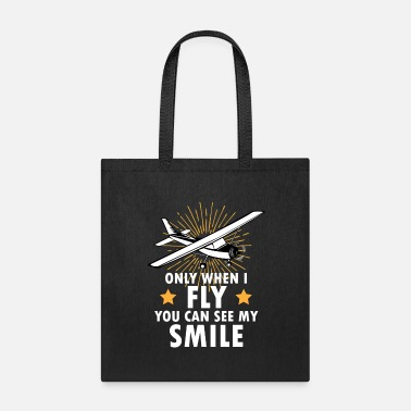 Helicopter Only When I Fly You Can See My Smile - Tote Bag