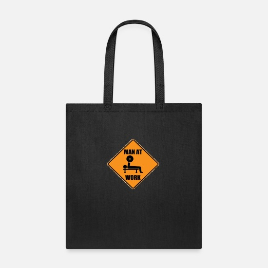 Man Bags & Backpacks - Man At Work - Tote Bag black