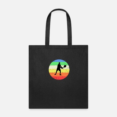 Tennis with colored circle background - Tote Bag