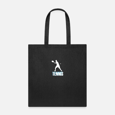 Tennis with colored font - Tote Bag