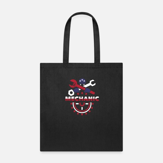 Labor Bags & Backpacks - Mechanic Labor Day - Tote Bag black