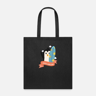 Summer Penguin Surfer from South Carolina Gift - Tote Bag