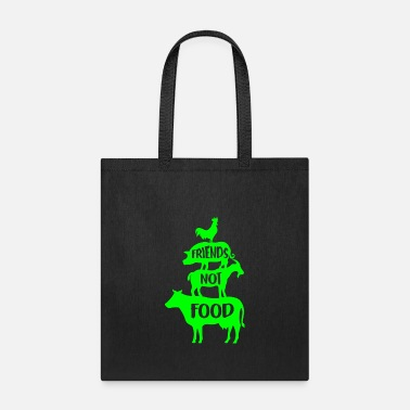 Food friends not food Vegan Vegetarian Gift - Tote Bag