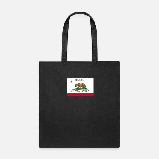 California Bags & Backpacks - Independent California Republic Flag - Tote Bag black
