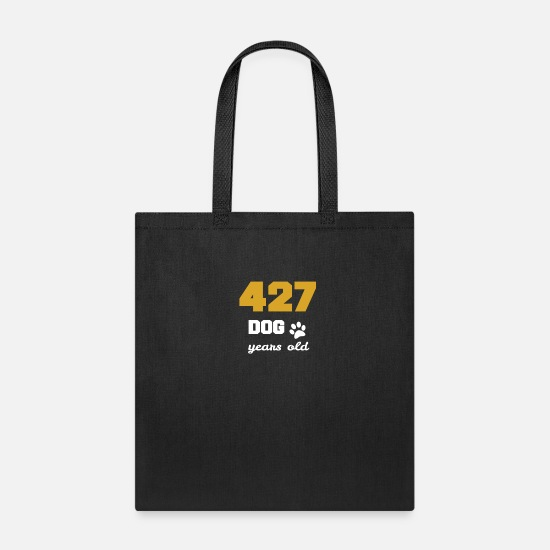 Labrador Bags & Backpacks - 61 birthday 427 dog years old Birthday - Tote Bag black