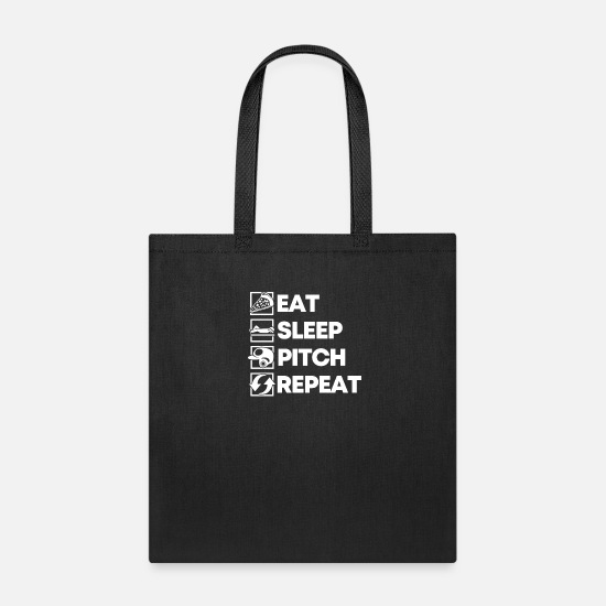 Soccer Bags & Backpacks - Eat Sleep Pitch Repeat - Tote Bag black