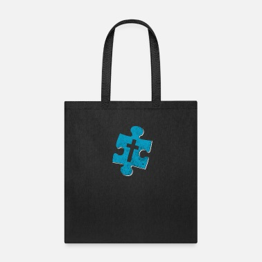 Jesus Piece Jesus Puzzle Piece Missing - Tote Bag