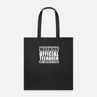 Teenager Warning Official Teenager T Shirt 13th Birthday - Tote Bag