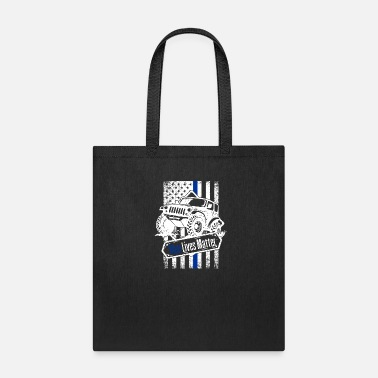 Cop Offroad Police Law Enforcement American Flag - Tote Bag
