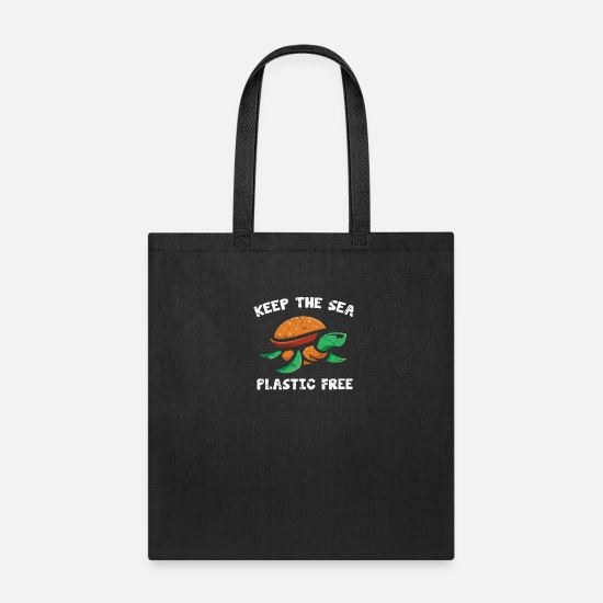 Plastic Bags & Backpacks - Turtle Animal Rights Activist - Tote Bag black