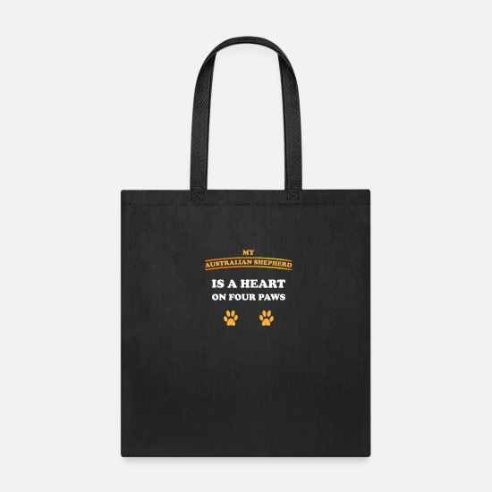 Love Bags & Backpacks - Australian Shepherd - Tote Bag black