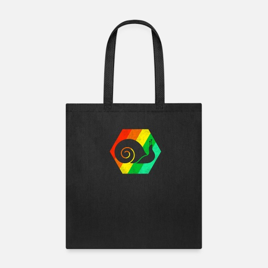 Snail Bags & Backpacks - Snail retro - Tote Bag black