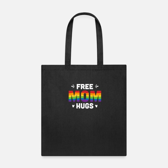 Love Bags & Backpacks - Free Mom Hugs - Tote Bag black
