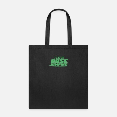 Jumper Jump Parachute Base Jumper Base Jumping Hobby - Tote Bag