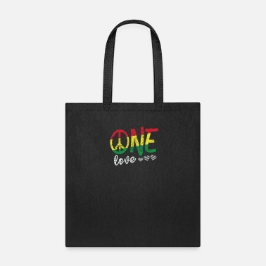 One Love T Shirt Rasta Reggae Men Women Kids Gift - Tote Bag