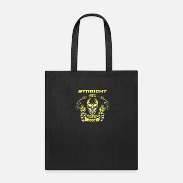 Handgun Skull Straight Shooter - Tote Bag