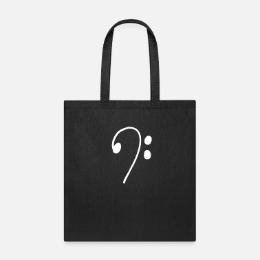 Bass Line clef heartbeat guitar Music Teacher Student Gift - Tote Bag