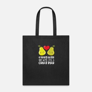 4th 4th Wedding Anniversary Gift Married Couple Pear - Tote Bag