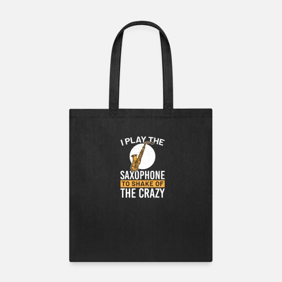 Saxophone Bags & Backpacks - saxophone saxophonist Classic Quote funny awesome - Tote Bag black
