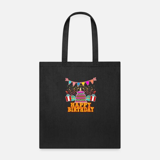 Occasion Bags & Backpacks - happy Birthday - Tote Bag black