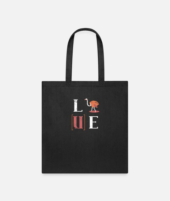 Animals Bags & Backpacks - Ostrich gift idea love - Tote Bag black