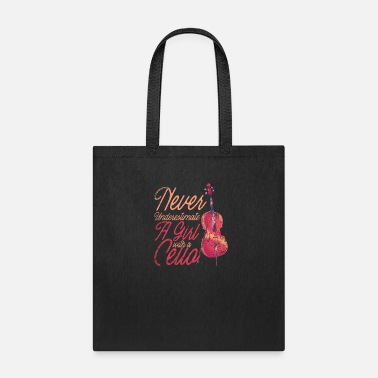 Music Cello Instrument Girl - Tote Bag