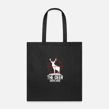 Deer Forest Water Tree Elk Winter Woods Hoof - Tote Bag