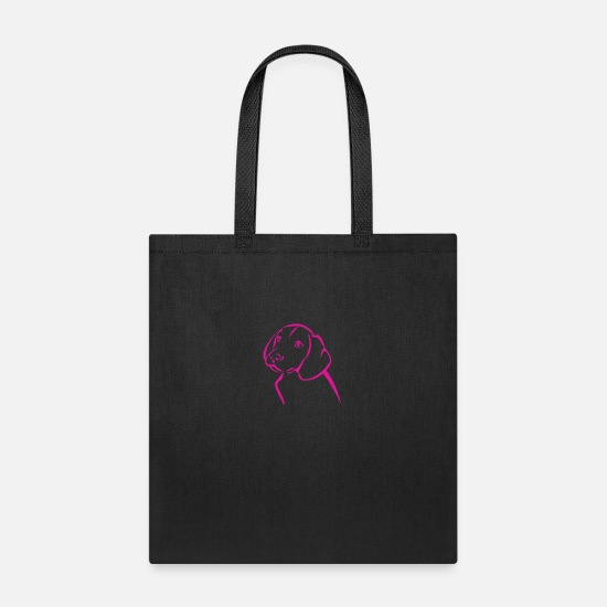 Love Bags & Backpacks - Sweet Dog pink rosa love - Tote Bag black