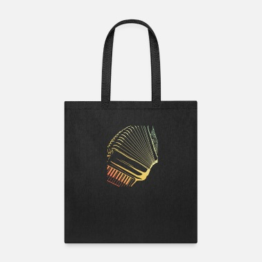 Artist Retro Colors Air Accordion Musician Gift Idea - Tote Bag