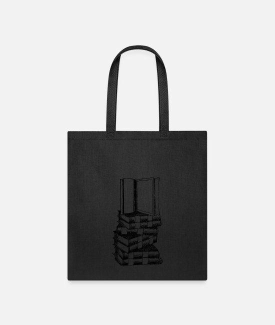 Read Bags & Backpacks - books illustration read bookworm reading - Tote Bag black