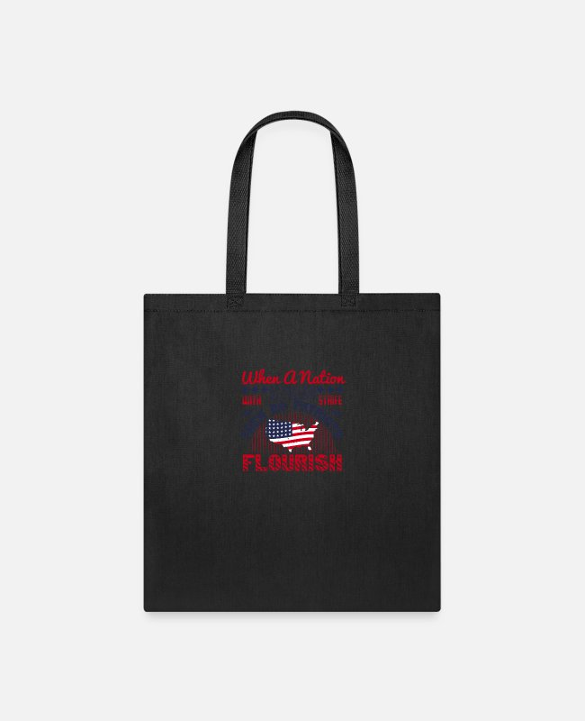 Endless Bags & Backpacks - Patriot Patriots Flourish With Strife - Tote Bag black