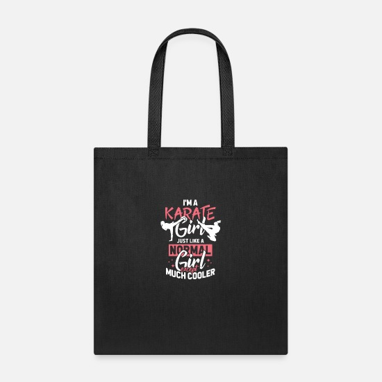 Karate Bags & Backpacks - I am a Karate girl - Tote Bag black