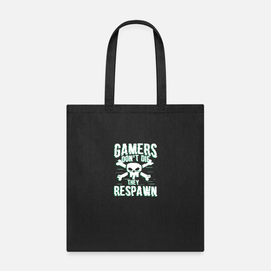 Play Bags & Backpacks - Gamer Gaming Respawn Game Over Level Onlin - Tote Bag black