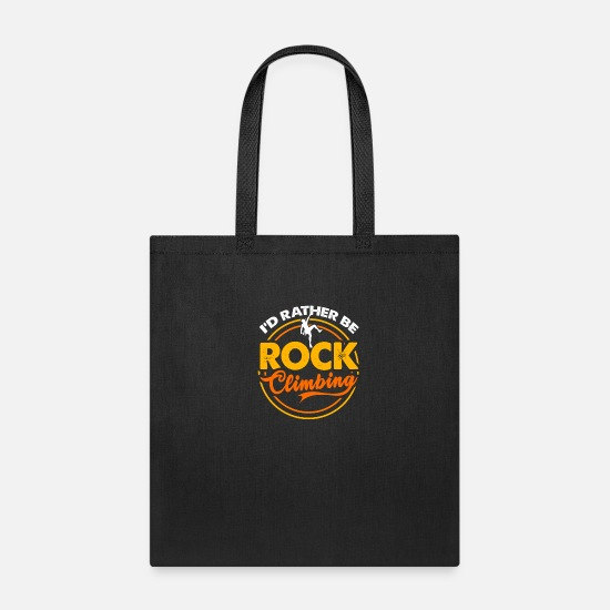 Grungy Bags & Backpacks - Climber Climbing Rock Climbing Wall Rappel Rope - Tote Bag black