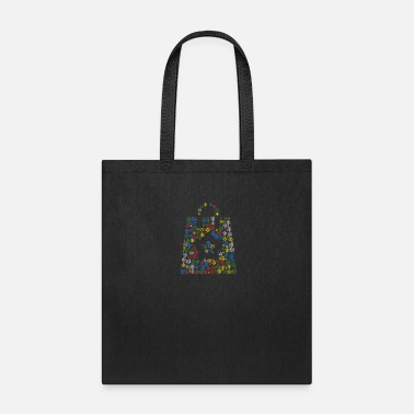 Nacht Snow Wordcloud of a shopping bag form (christmass) - Tote Bag