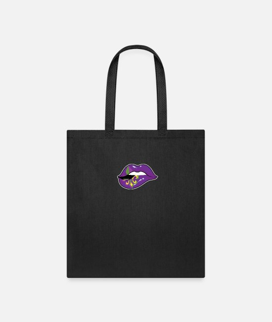 Lips Bags & Backpacks - Mardi Gras Lip Street Party Carnival Festival Gift - Tote Bag black